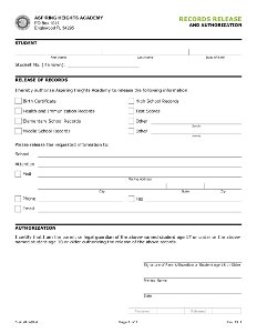 Records Release and Authorization Form